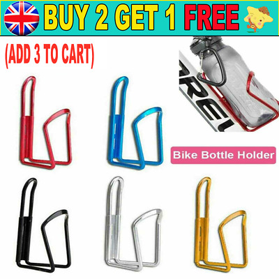 Sports Bike Bicycle Cycling Drink Water Bottle Holder Aluminum Alloy Rack Cages • 0.99£