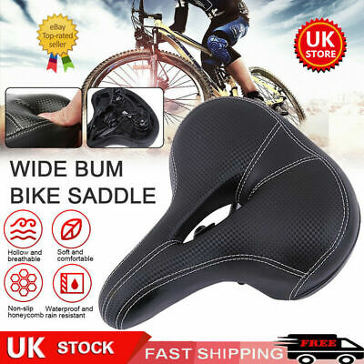 Universal Extra Wide Comfy Cushioned Bicycle Gel Saddle Bike Seat Soft Padded • 6.99£