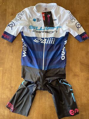 Small NoPinz Road Race 2.0 Speed Suit - Team Issue SwiftCarbon Pro Cycling UCI • 200£