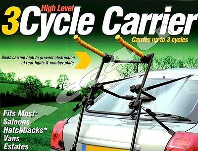Maypole BC2000 Car Rear High Level Easy To Fit 3 Cycle Bicycle Carrier Bike Rack • 59.98£