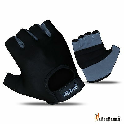 Didoo Mens Fingerless Cycling Gloves Half Finger Foam Padded Sports Bike Sports • 5.85£