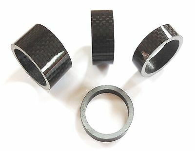 Bike-Cycle-Bicycle Carbon Fiber Gloss-Matt Headset Spacer 1 1/8   3-5-10-15-20mm • 1.80£