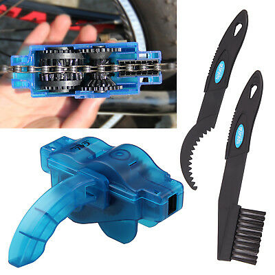 Bicycle Chain Cleaner Bike Maintenance Tools Lubrication Cleaning Wheel Wash • 8.59£