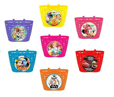 Disney Frozen Cars Minnie Bicycle Front Basket Kids Bike Cycle Shopping Childs • 9.87£