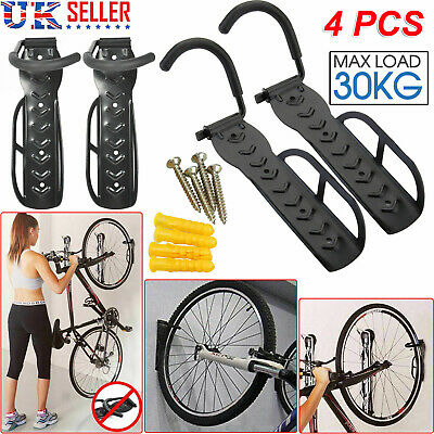 4X Steel Bike Rack Stand Storage Wall Mounted Hook Hanger Bicycle Holder Hanging • 19.99£