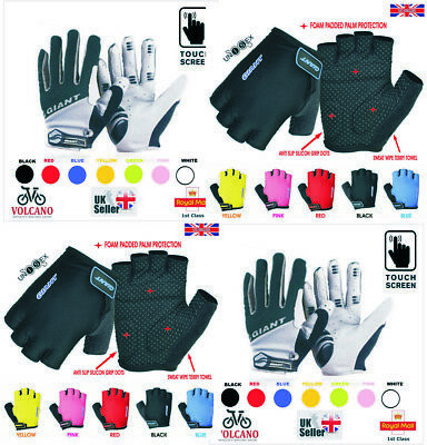 New 2020 GIANT Cycle Gloves Full Half Finger Less Bike Bicycle Cycling Gloves UK • 8.95£
