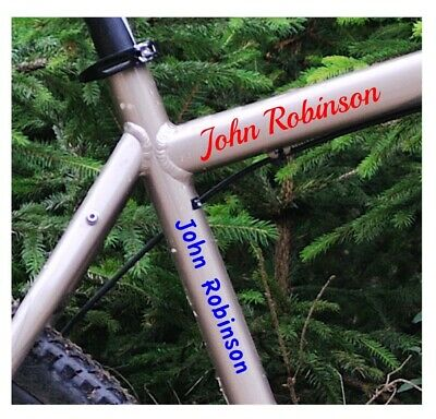 4 Personalised Cycle/helmet/frame Stickers Free P&P • 2.99£