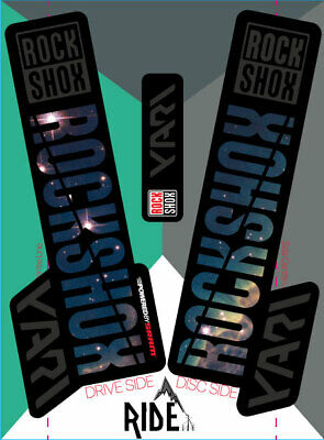 Rockshox 2018 Yari Decals Stickers, Nebula, Colours, Enduro, DH,  • 9.50£