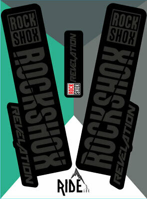 RockShox Revelation 2018 Style Sticker Decal Sets  - Enduro, DH, Black • 9.50£