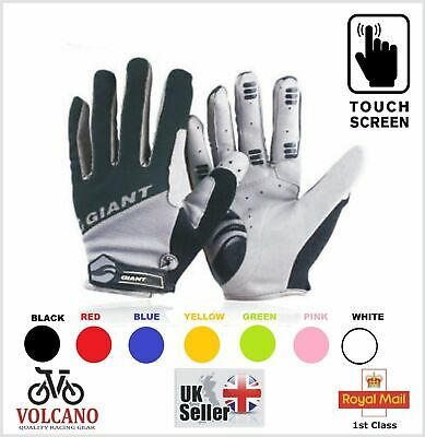 New GIANT Cycling Gloves Touch Screen Full Finger MTB Bike Bicycle Cycle Mitts • 9.95£