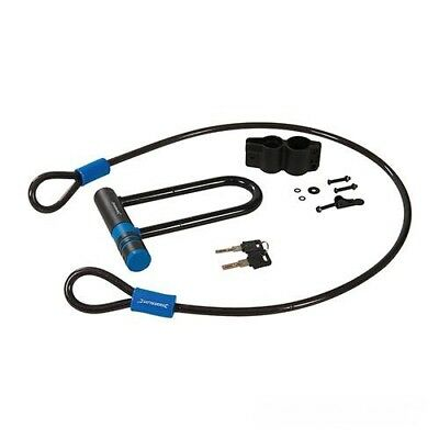 Black Strong Bike Cycle D U Shackle Lock And Cable Set • 14.48£