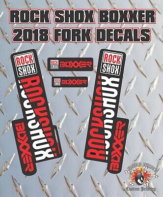 Rockshox BOXXER 2018 Style Fork Sticker Decal Graphics Enduro, DH,  Red • 6.99£