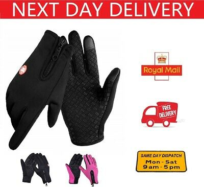 Winter Warm Gloves Touch Screen Waterproof Anti-slip For Driving Sports Cycling • 4.99£