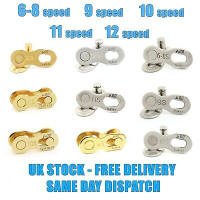9 10 11 SPEED MASTER MISSING LINK QUICK LINK CHAIN JOINERS FIT SHIMANO SRAM Etc. • 6.25£