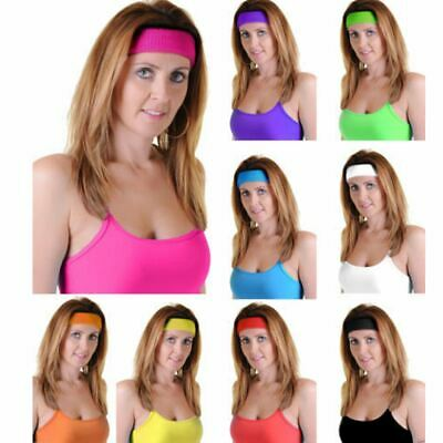 Unisex Headband Stretchy Gym Toweling Exercise Elastic Sports Sweat HairBand  • 1.49£