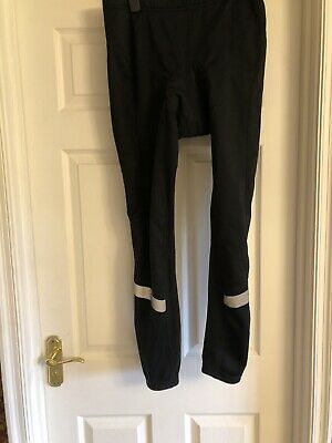 """Crane Mens Size 36-38"""" Large Leggings With Built In Saddle Pad Black Reflective • 8.99£"""