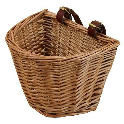 Wicker Child's Size Bicycle Bike Cycle Basket With Adjustable Straps Kids Size • 19£