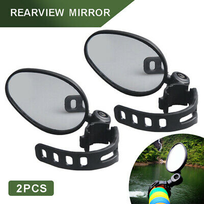 2X 360°Safe Rear View Rearview Mirror Cycling Bike Bicycle Handlebar Mount • 6.89£