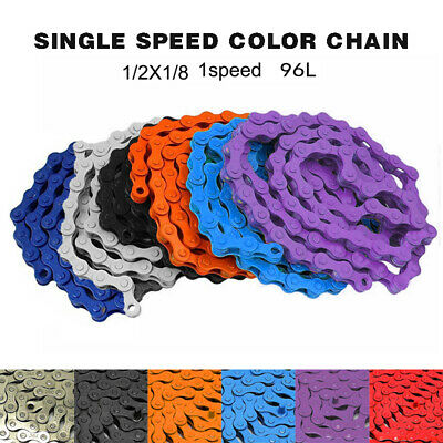 Cycling Bicycle Single Speed Chain 1/2 X 1/8 RC312 Colored Bike BMX MTB Fixed • 7.99£