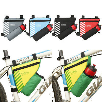 Bicycle Cycling Triangle Storage Bag Bike Front Tube Frame Bags Pouch Pannier • 5.89£