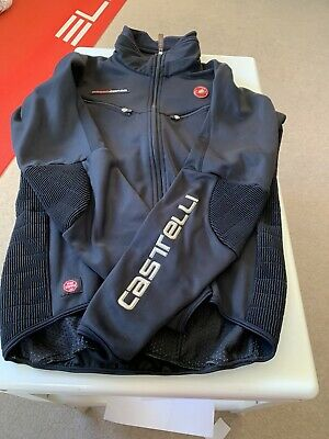 Castelli Rosso Corsa Winter Jacket Black In Size M • 22£