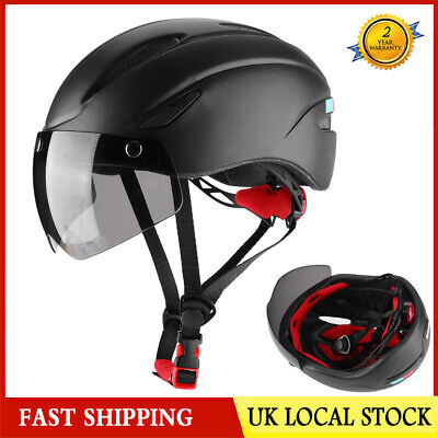 Adult Mountain Bike Helmet MTB Head Protection Safety Cycling Helmets With Light • 23£