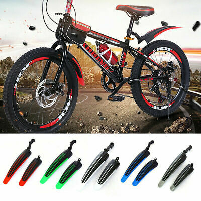 Bicycle Fender Set Adjustable Front Rear Mud Guard Mountain Bike Tire Mudguards* • 7.99£