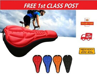 UK Bike Seat Cover Bicycle Gel Pad Soft 3D Cushion Mountain Bike Indoor Spinning • 3.95£
