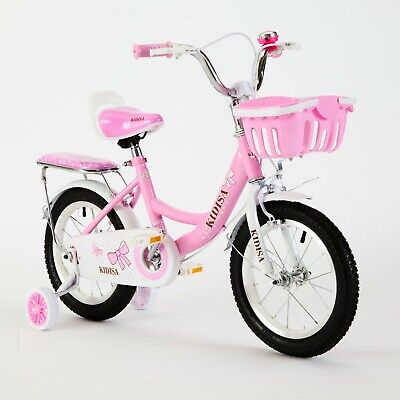 Tynee™ Children's Girls Bike Bicycle With Removable Stabilisers 12 14 16 Inch Uk • 68.98£