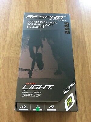 Respro Face Mask Ultra Light Black Cycling Large Brand New • 67£