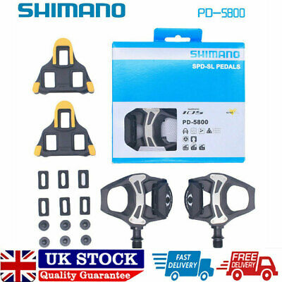 Fit SM Bike 105 PD-5800 Carbon SPD-SL Road Bicycle Bike Pedals Clipless 9/16  UK • 66.71£