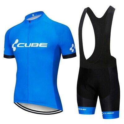 2020 Men's Cycling Jersey Kit Short Sleeve Bib Shorts Sets Road Bike Clothing • 27£