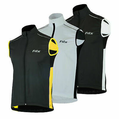 FDX Mens Cycling Gilet Shower Windproof Foldable Cycling Jacket Breathable Gilet • 14.99£