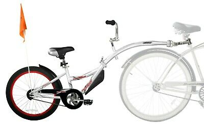 WeeRide Co Pilot Tagalong Trailer Bike SILVER Brand New Condition • 80£