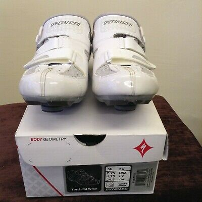 Specialized Torch RD WMN Road Women's Cycling Shoes White/Grey S- 4.75 UK NEW • 49.99£
