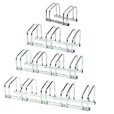 Bike Stand Rack Floor Wall Mount Storage Holder Parking Cycle Bicycle 2 3 4 5 • 11.49£