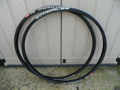 Pair Schwalbe Ultremo ZX 700 X 23c Tyres - Less Than 100 Miles • 16£