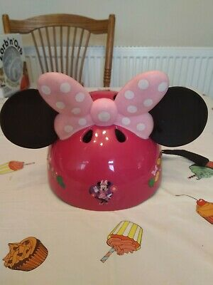 Adjustable Toddlers Minnie Mouse Bow-tique Bicycle Helmet • 8.99£