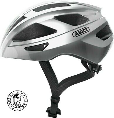 Abus Macator Helmet In Silver Small 52cm • 45£