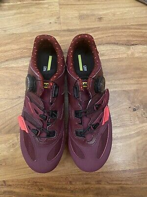 Mavic Ladies Uk 5 Eu 38 Sequence Xc Elite Burgundy Cycling Shoes Rrp £135 • 48£