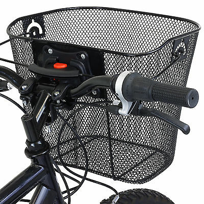 Pedalpro Bike/bicycle Metal Mesh Basket & Quick Release Bracket Shopping Handle • 12.99£