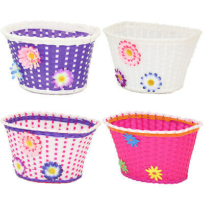 Pedalpro Girls Bicycle Basket Flower/shopping Childs/childrens/kids Bike/cycle • 7.99£