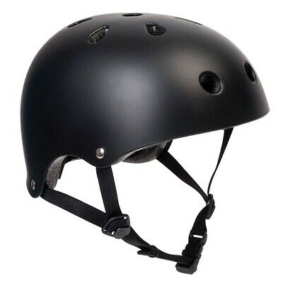 Pedalpro Matt Black Bmx/skate Helmet Bike/bicycle/cycle/scooter Safety Bomber • 9.99£