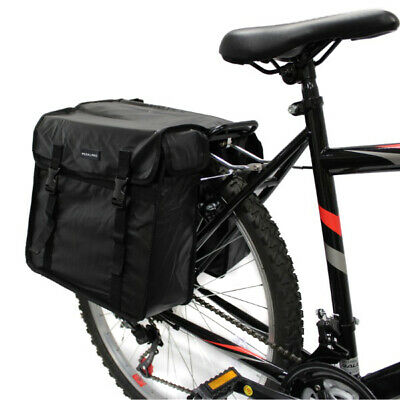 Pedalpro Double Waterproof Bicycle Rear Rack Pannier Top Bag Bike/cycle Commuter • 16.99£