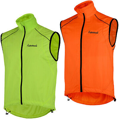 Didoo Mens Cycling Gilet Lightweight Wind Resistant Breathable Jacket Reflective • 15.99£