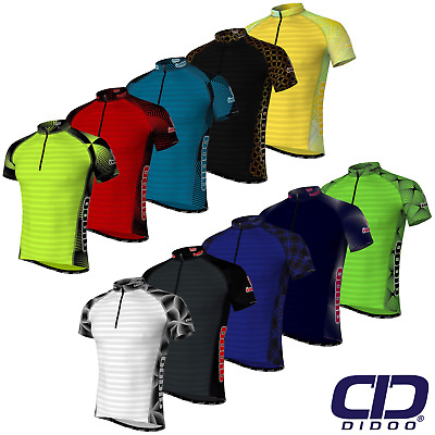 Didoo Men's Summer Cycling Jerseys Breathable Short Sleeve Biking Tops Mountain • 17.28£