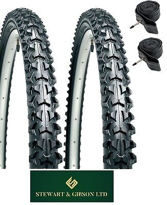 PAIR OF - MOUNTAIN BIKE/CYCLE TYRES AND INNER TUBES 26  X 1.95 INCH  • 24.99£