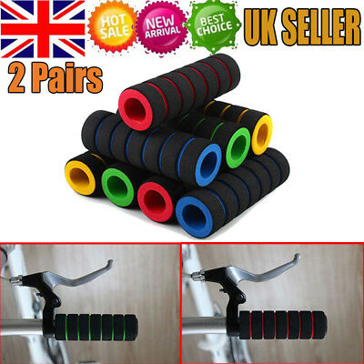 2 Pair Sponge Foam Bicycle Handle Bar Grip Cover For Mountain Riding Road Bike • 2.80£
