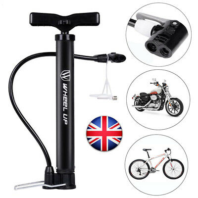 120PSI Steel Floor Track Pump MTB Road Bicycle Bike Motorcycle Presta Schrader • 8.60£