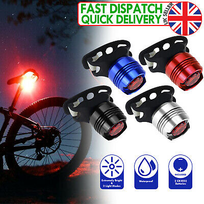 BICYCLE LED TAIL Front Or Rear Light FLASH MODE Mountain Bike Waterproof Bright • 7.98£